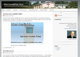 Westminster Presbyterian Church Website