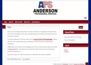 Anderson Professional Services website - Sioux City, Iowa